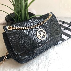 Micheal Kors Chain Soft Crocodile Embossed Bag